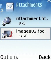 Decoded attachments