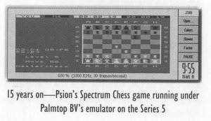 Chess on the Spectrum emulator